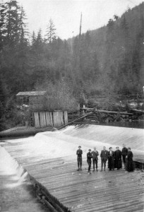 Dam, Capilano River 1908. NVMA 10091