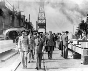 Duke of Kent at Burrard Dry Dock 1941. NVMA 1193