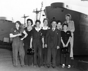 Women at Burrard Dry Dock c.1942 NVMA 12384