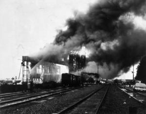 Burrard Terminal Fire 1975. NVMA 8512