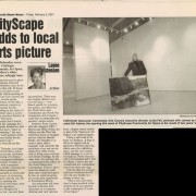 North Shore News Article, Feb. 2,2001. Paul McGrath, photographer.