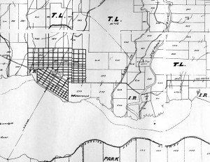 North Vancouver District 1889 Map