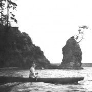 First Nations Canoe, Siwash Rock. NVMA 952