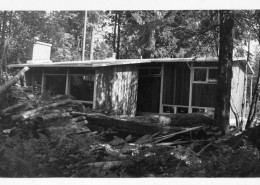 House under construction with exterior completed, 1951.