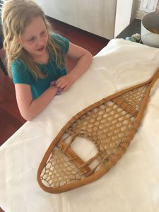 Snowshoes do the same thing as animal paws, spreading your weight out so you don't sink into the snow. Photo: Pamela Robertson