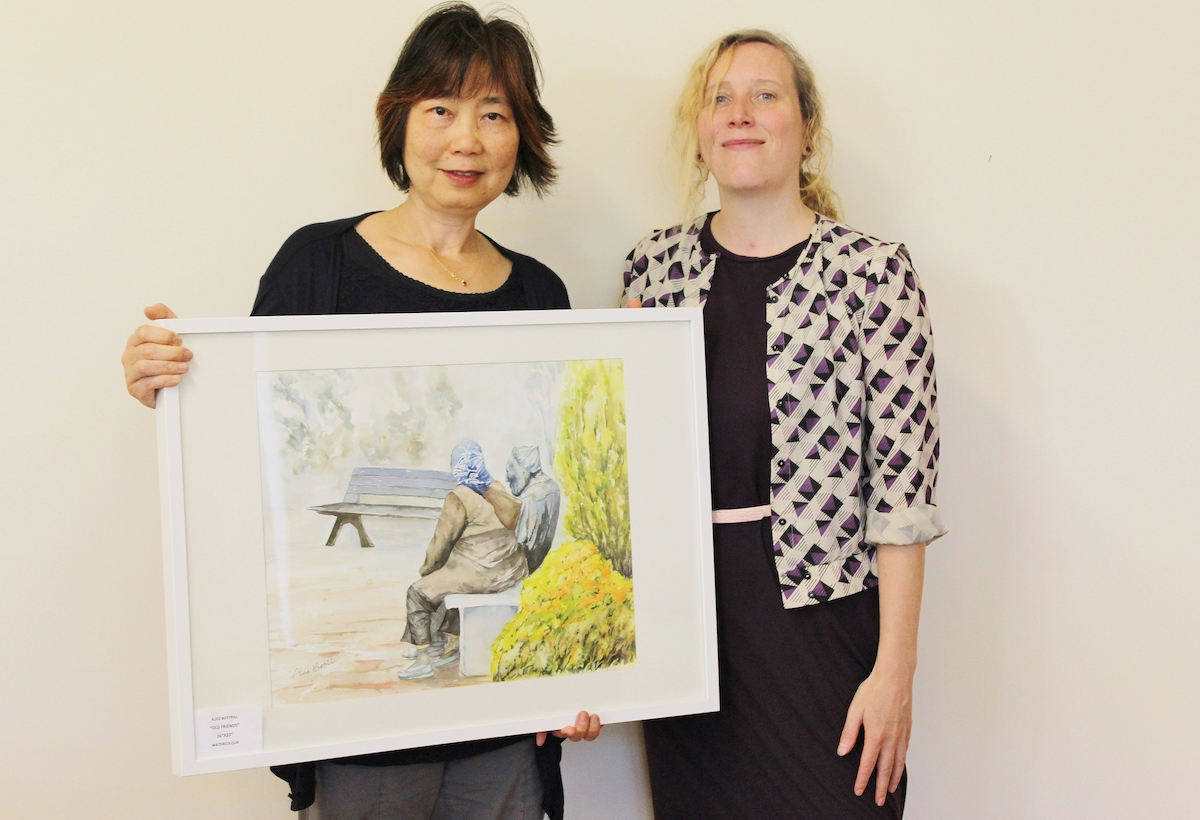 Artist, Alice Bottrill with folklorist Lisa Wilson, 2015. Fonds 201, Voices and Views, AB.014