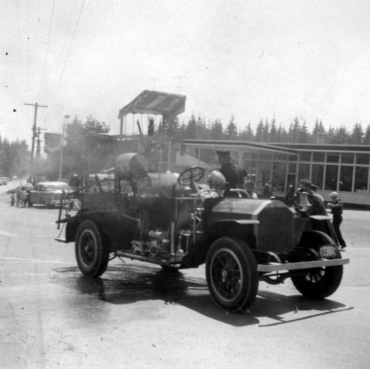 Fire Engine in Lynn Valley Day Parade, between 1960 and 1962. Item 11384.