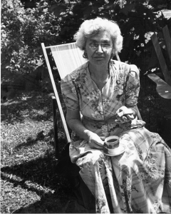 Olivia Poole, Inventor of the Jolly Jumper, August 1947. Photographer Betty Poole, NVMA 14768.