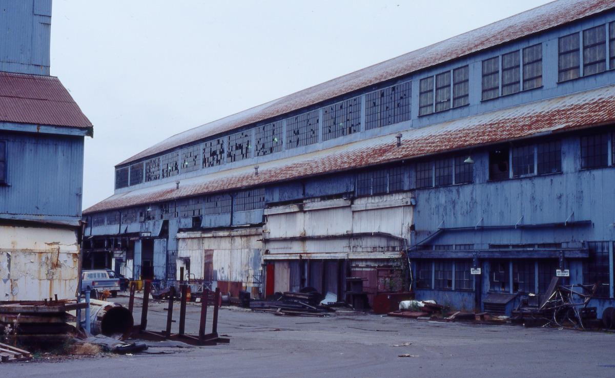 The Shipyards after closure. Photo: Mary Shaugnessy, NVMA F213 13 TD009.