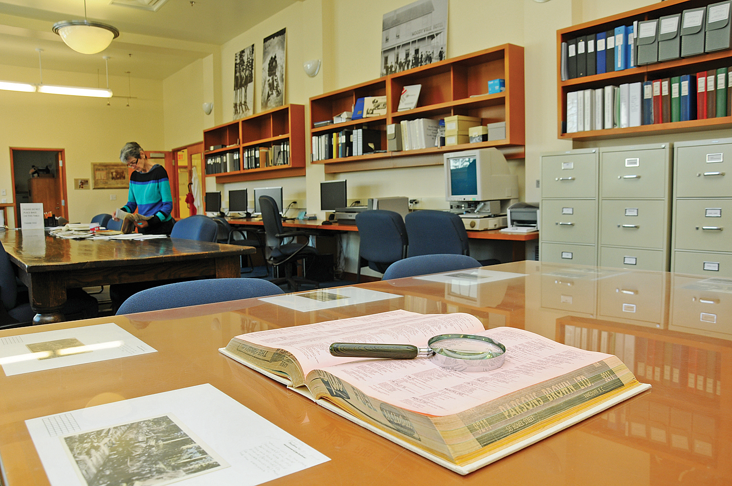 NVMA reference room in 2016. Photo: Cindy Goodman, North Shore News