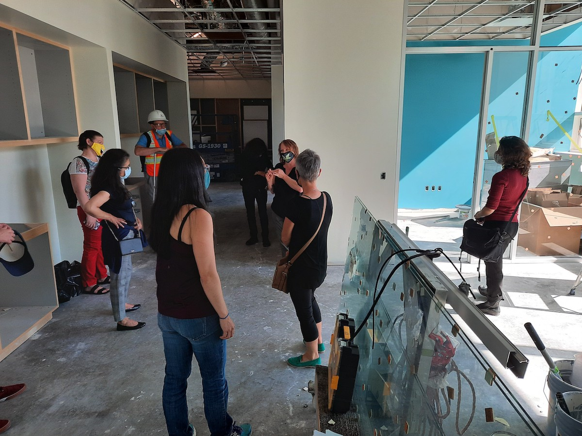 Staff tour of the new Museum, August 2020. Photo: Sarah Mosher