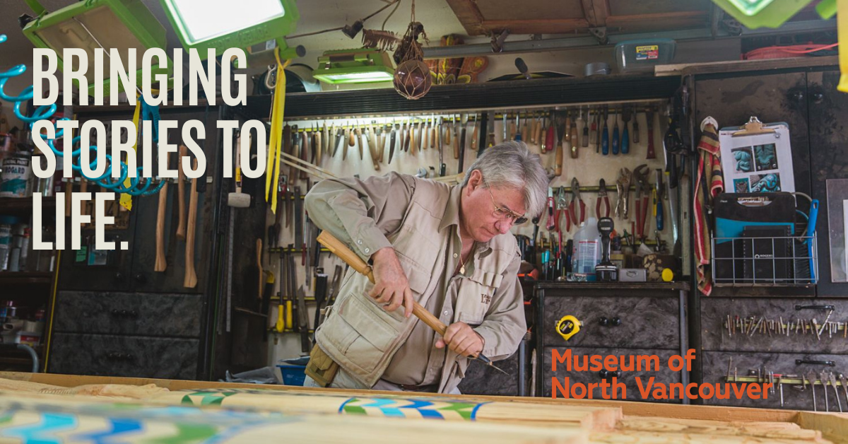 Sḵwx̱wú7mesh (Squamish) carver Wade Baker provided us with a sneak peek of his studio for our