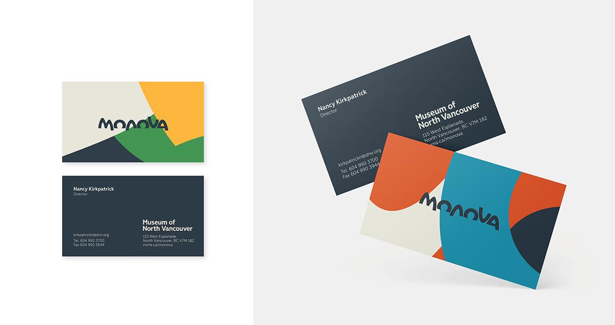 Image of MONOVA business cards.