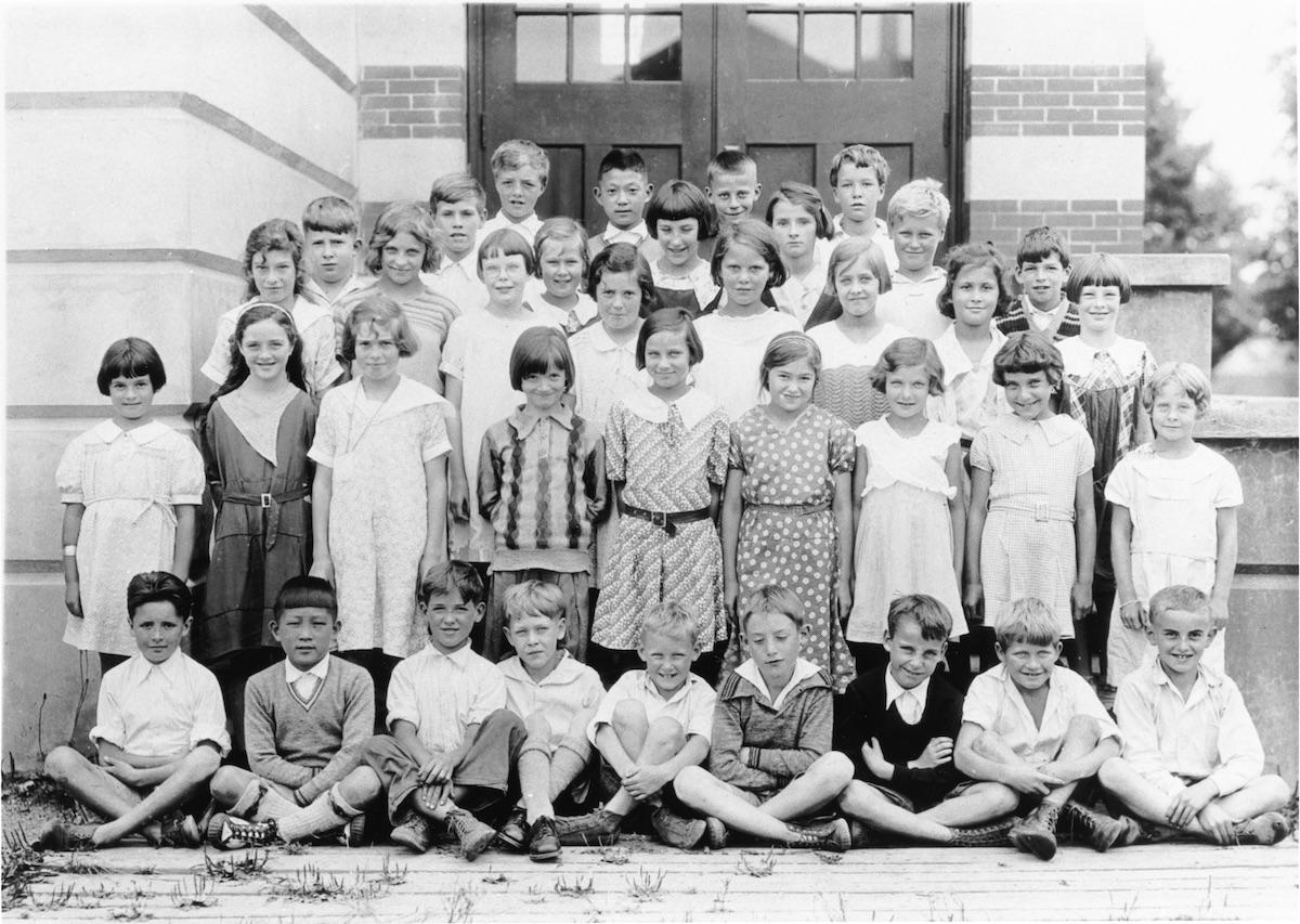 Miss Elliott's Grade 2 Class at Lynn Valley School in North Vancouver, 1932. Photo: NVMA 5185