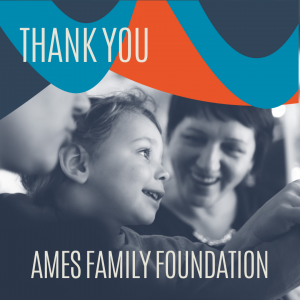 A thank you graphic for the Ames Family Foundation.