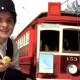 """Screen capture from """"Riding With Change: Streetcar Stories from the North Shore"""" with Young Canada Works museum theatre intern Chantal Gallant."""