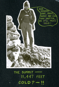 Neal Carter on summit of Mt. Lefroy, 1920. Photo: NVMA 222-A3-66-4