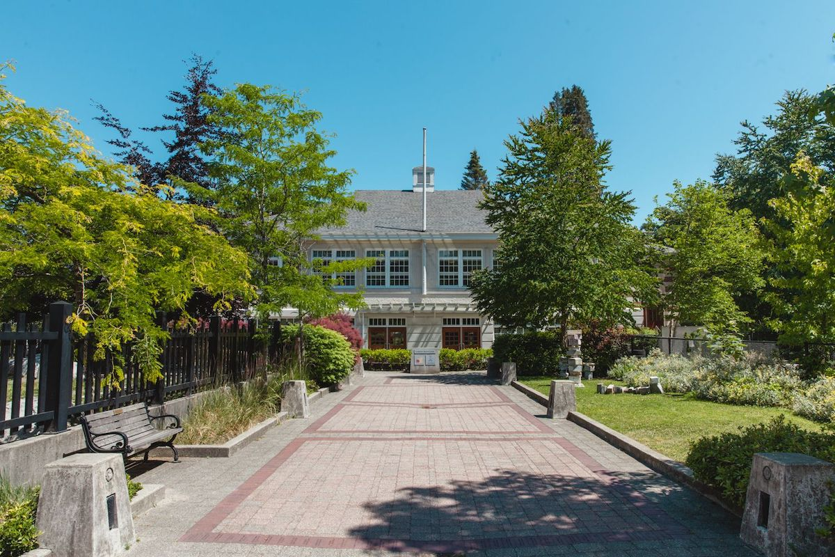 Exterior image of the Fourth Lynn Valley School, currently the home of MONOVA: Archives of North Vancouver. Photo: Alison Boulier, July 2018