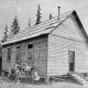 First Lynn Valley School, Church Rd. Opened in 1904. Miss Whiteley, first teacher. NVMA 6648