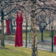 """Jamie Black's REDress Project is described as """"an aesthetic response to the more than 1000 missing and murdered aboriginal women in Canada."""" Photo: Sam Javanrouh"""