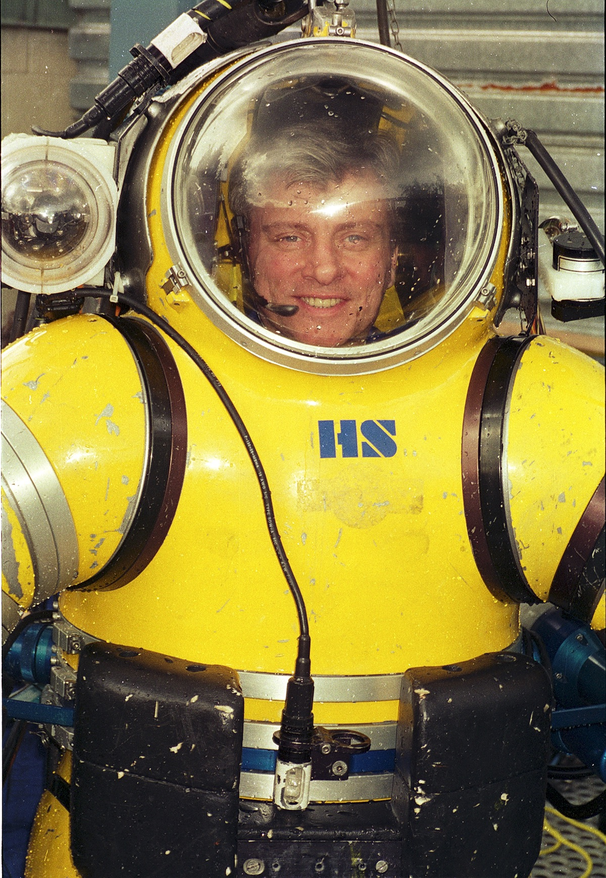 Phil Nuytten in wet suit, c. 1990s. INSERT PHOTO CREDIT