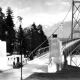 Lions Gate Bridge seen from the south side. Ca. 1940. NVMA 11824