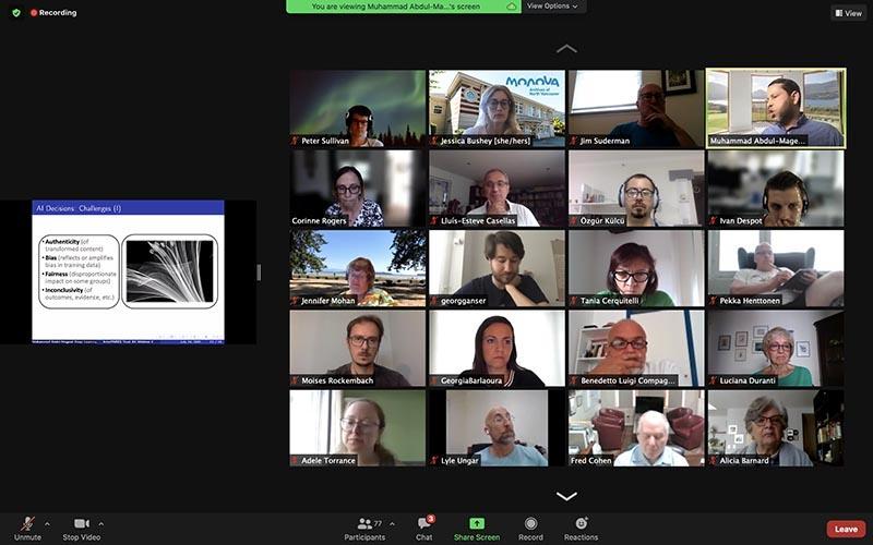 IP Trust AI launch meeting, 2021.
