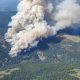 The Brenda Creek wildfire is seen in an image from the BC Wildfire Service on Wednesday, 14 July 2021.
