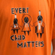 This year's orange shirt is designed by Shayne Hommy, a Grade 11 First Nations Cree student at South Peace Secondary School in Dawson Creek. Photo: CFJC Today